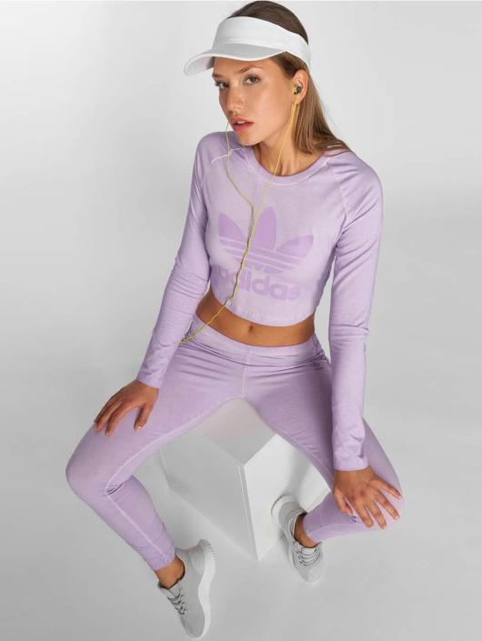 adidas originals Longsleeve Crop purple