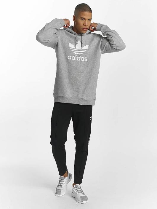 adidas originals Sweat capuche Trefoil gris