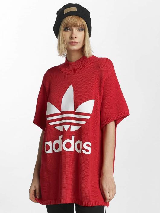 adidas originals Damen T-Shirt Big Trefoil in rot 436026 fb309708aa