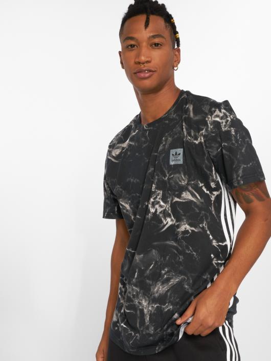 Adidas Originals Mrbl Stripe Tee T Shirt Black