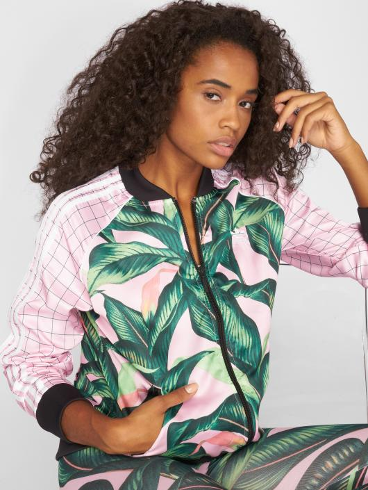 veste adidas motif rose