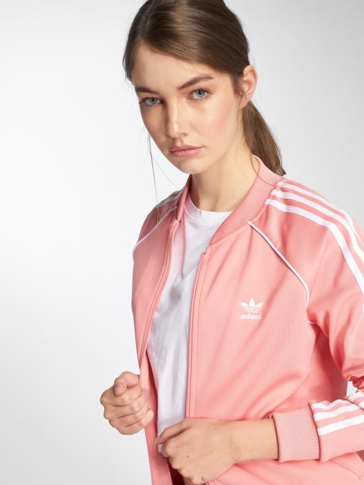 fd324c98b75 ... adidas originals Veste mi-saison légère Sst Tt Transition rose ...