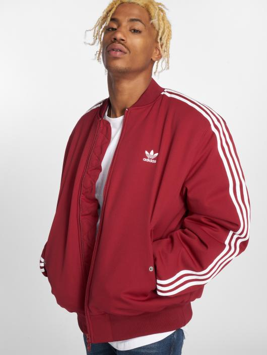 sweat adidas rouge homme