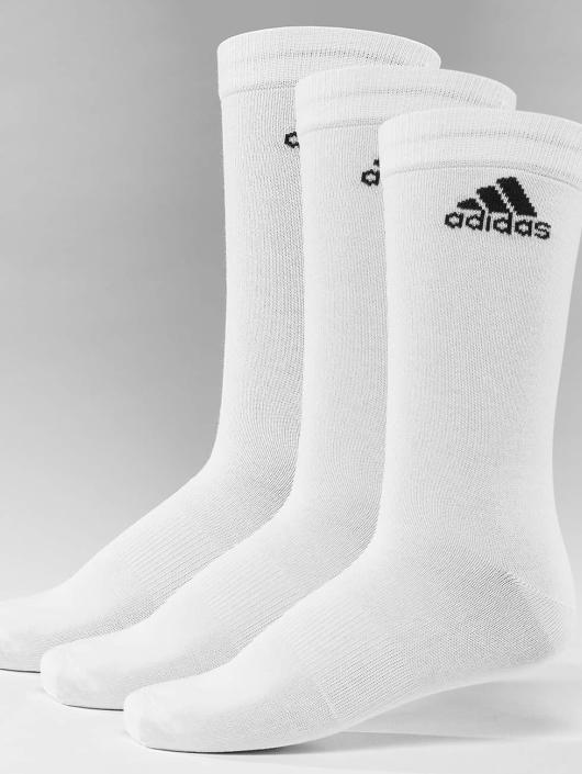 adidas Performance Chaussettes Performance 3-Stripes Crew blanc