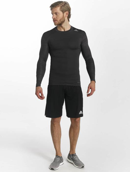 adidas Performance T-Shirt manches longues Techfit Base noir