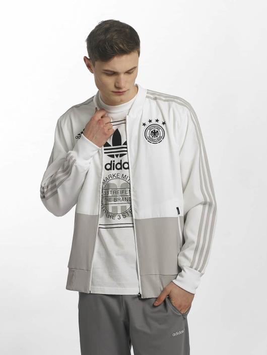 Adidas DFB Presentation Jacket WhiteGrey Two