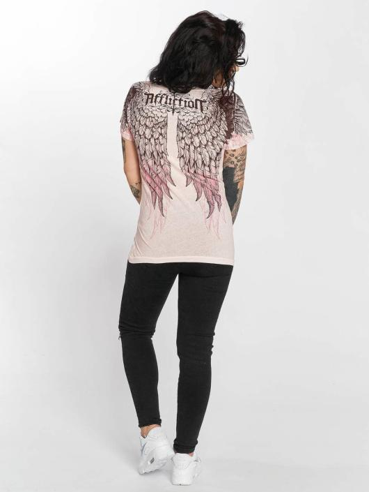 Affliction T-Shirt Age of Winter rosa