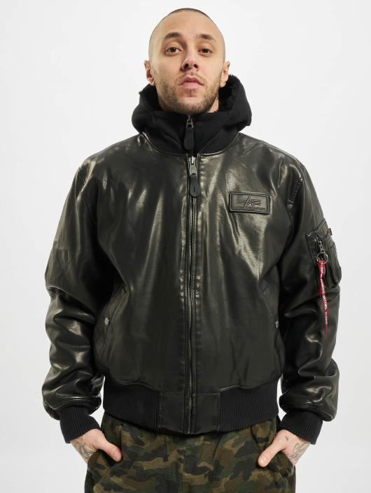 ... Alpha Industries Кожаная куртка MA-1 D-Tec FL Leather черный ... 7e113e83766