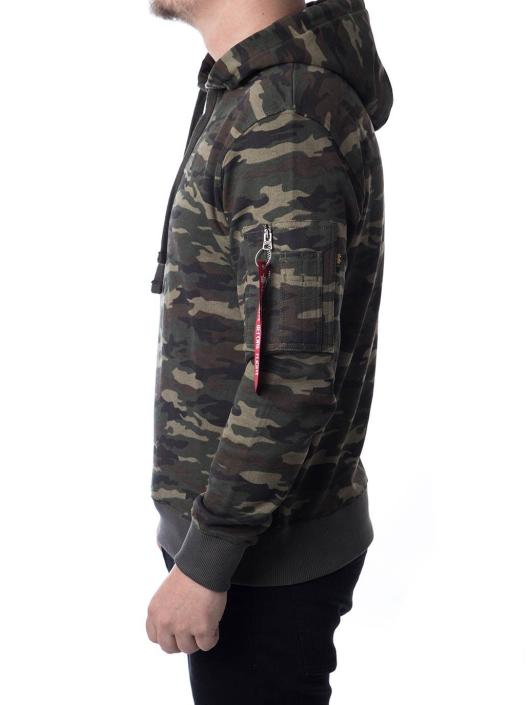 Alpha Industries Bluzy z kapturem X-Fit zielony