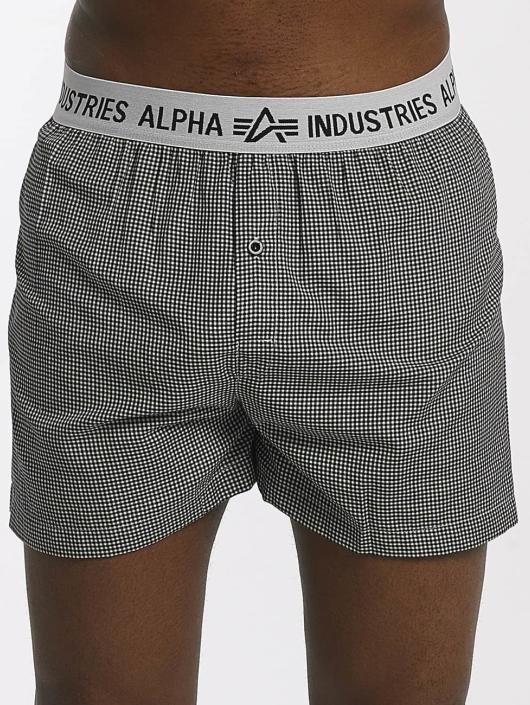 Alpha Industries Bokserki Checked czarny