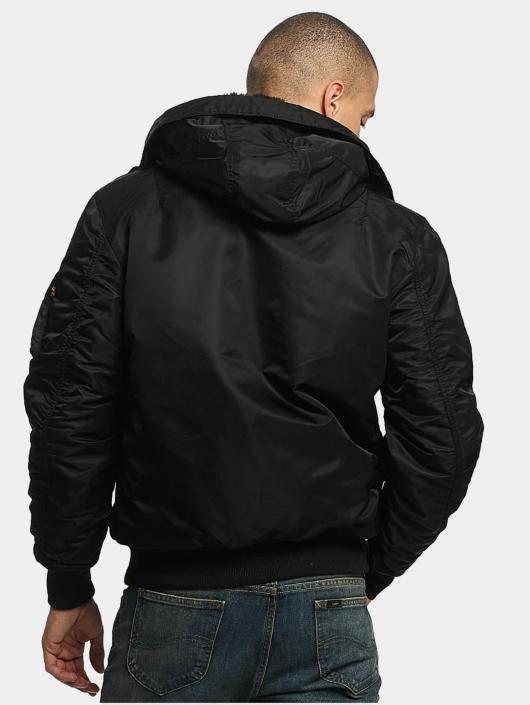 Alpha Industries Jackor Bomberjacka MA 1 Hooded i svart 375304