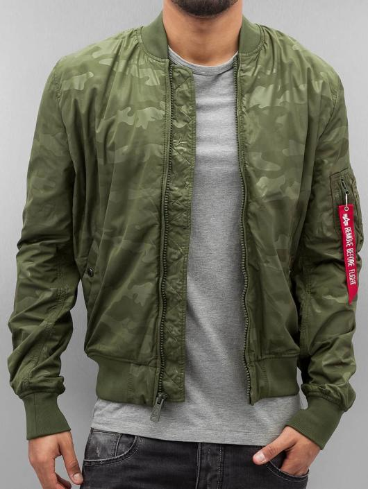 Alpha Industries MA 1 TT Hidden Camo Jacket Dark Green