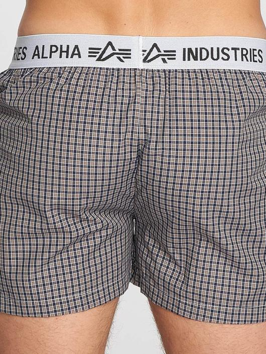 Alpha Industries Boxer Checked brun