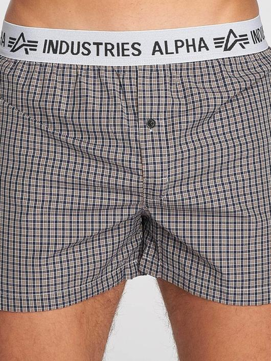 Alpha Industries Boxershorts Checked braun