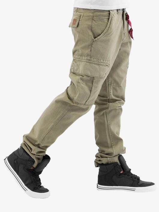 Alpha Industries Cargo pants Agent olivový