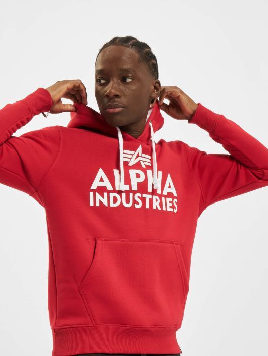 Alpha Industries Hoodie Foam Print red