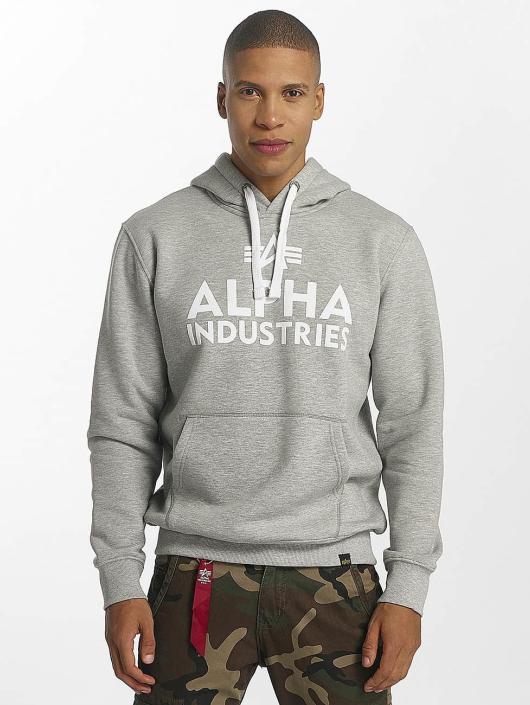 Alpha Industries Hoody Foam Print grau