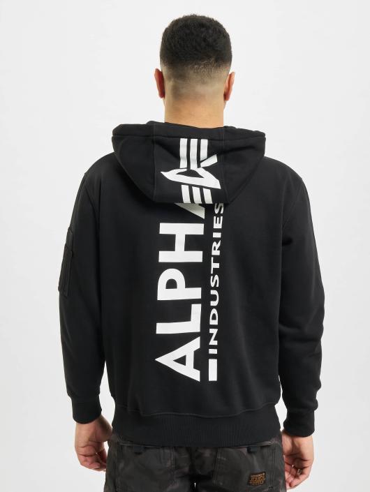 Alpha Industries Hoody Back Print schwarz