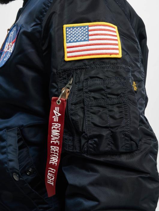 Alpha Industries Kurtka pilotka MA-1VF NASA niebieski