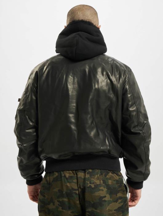Alpha Industries Lederjacke MA-1 D-Tec FL Leather schwarz
