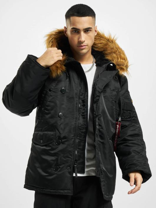 Alpha Industries Manteau hiver N3B noir