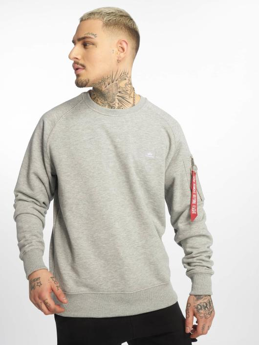 Alpha Industries Pullover X-Fit grey