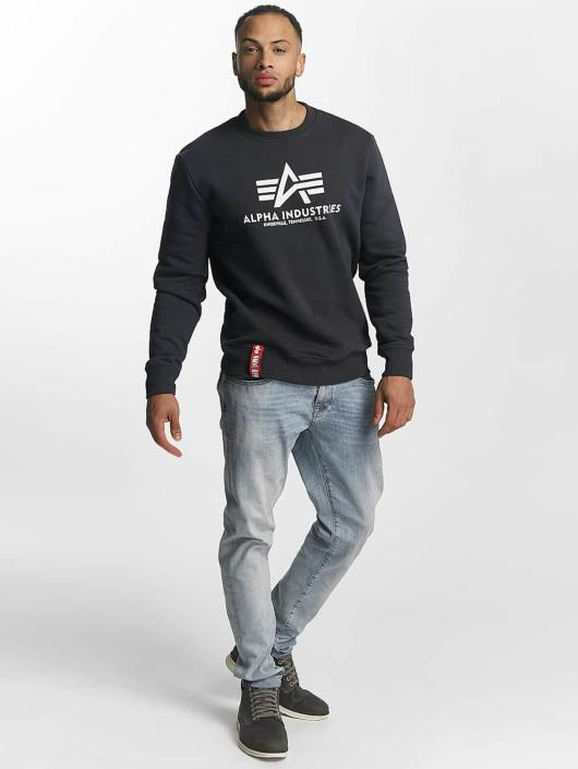 Alpha Industries Pulóvre Basic modrá