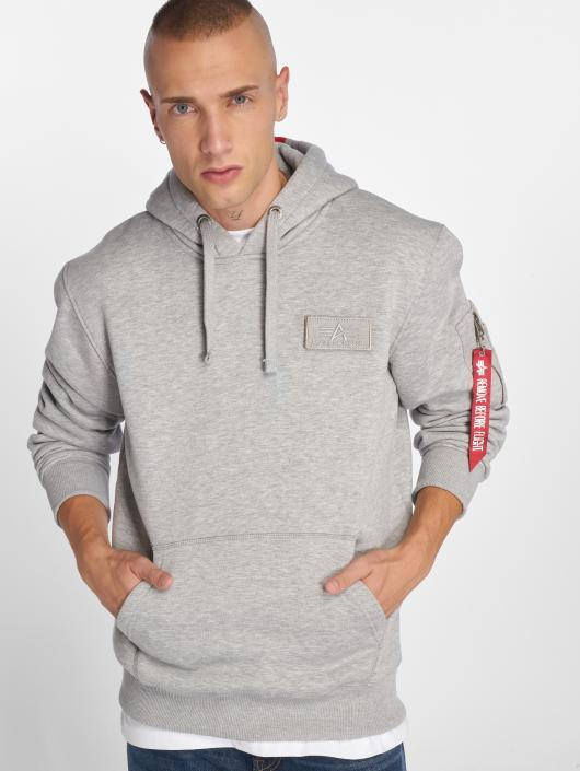 Alpha Industries   Red Stripe gris Homme Sweat capuche 496925 b0d12c100fca