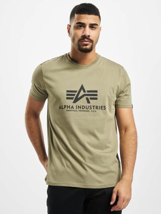 buy online 5e895 959af Alpha Industries Basic T-Shirt Olive