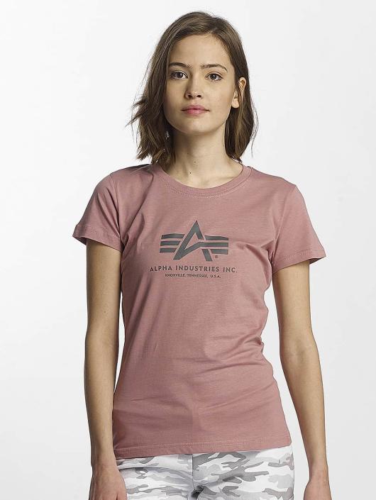 Alpha Industries T-paidat Logo vaaleanpunainen