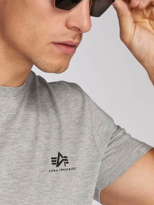 Alpha Industries T-Shirt Basic Small Logo grey