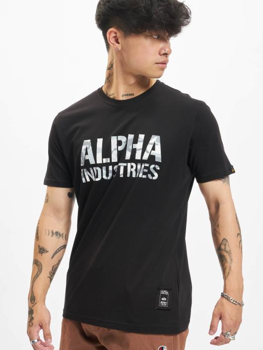 Alpha Industries T-Shirt Camo schwarz