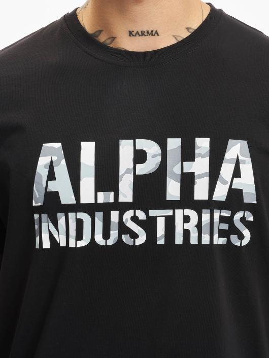 Alpha Industries T-Shirty Camo czarny