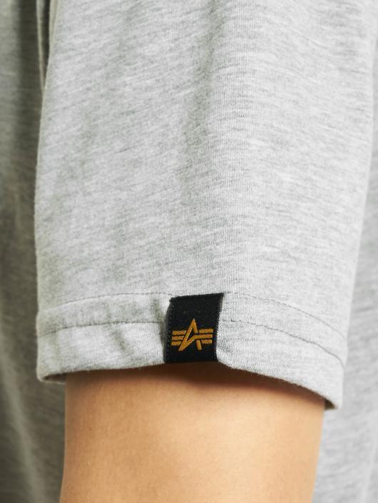 Alpha Industries T-Shirty Basic szary