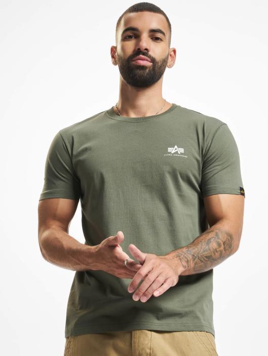 Alpha Industries T-skjorter Basic Small Logo oliven