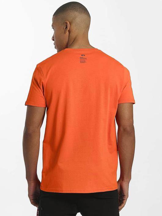 Alpha Industries T-skjorter Star oransje