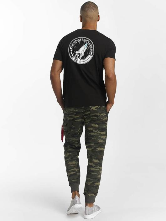 Alpha Industries T-skjorter Space Shuttle T svart