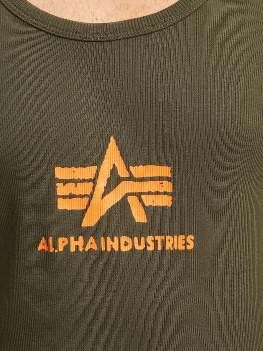 Alpha Industries Tank Tops Logo green
