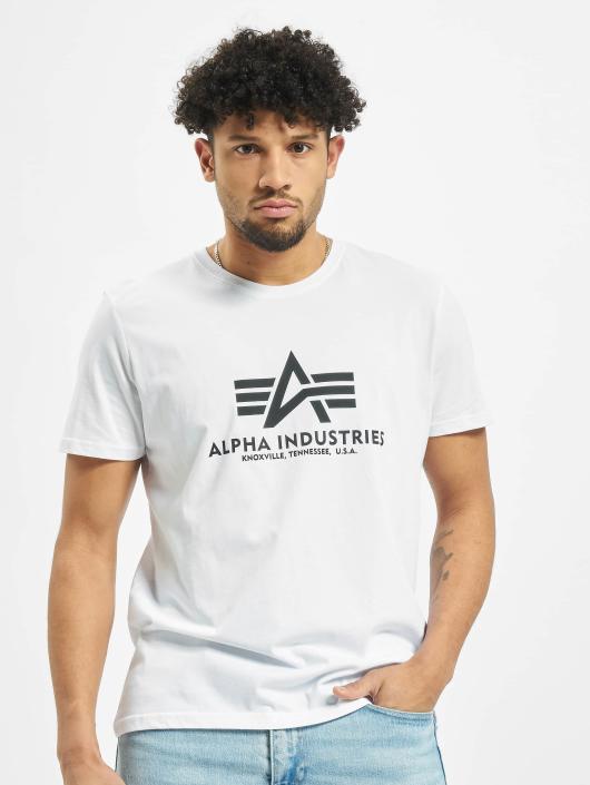 Alpha Industries Tričká Basic biela