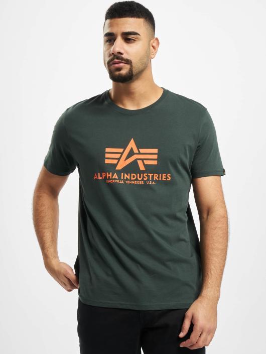 Alpha Industries Tričká Basic zelená
