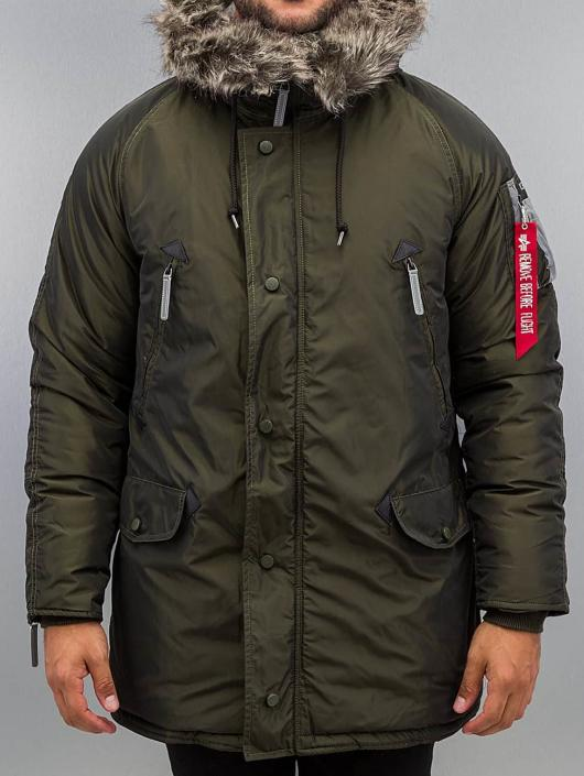 Alpha Industries winterjas N3-B R groen