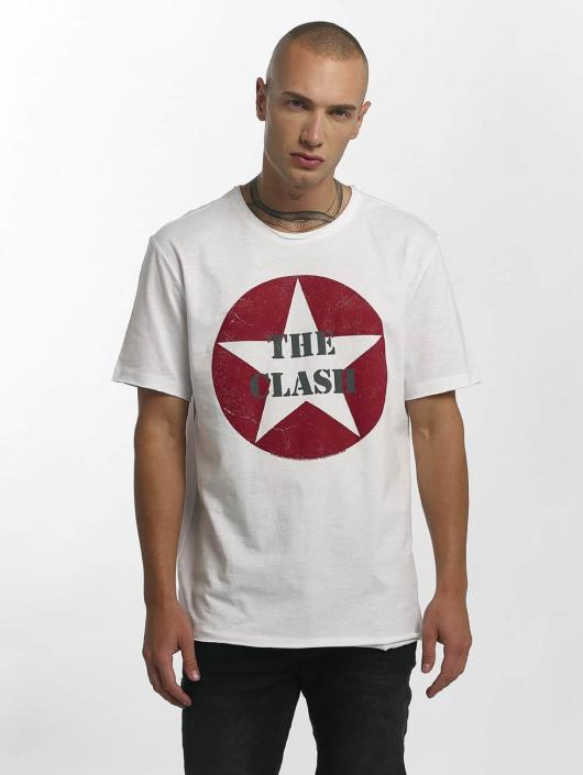 Amplified T-Shirt The Clash Star Logo blanc