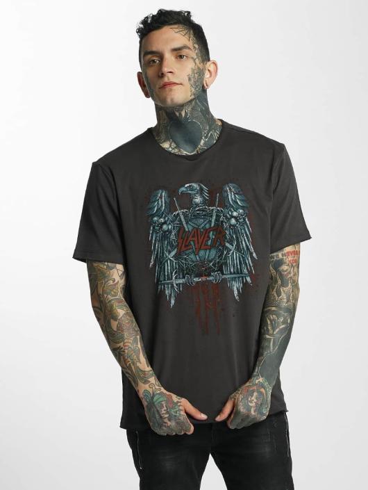 Amplified T-Shirt Slayer Metal Edge gray