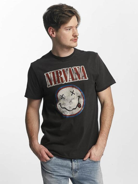 Amplified T-Shirt Nirvana Colour Smiley gris