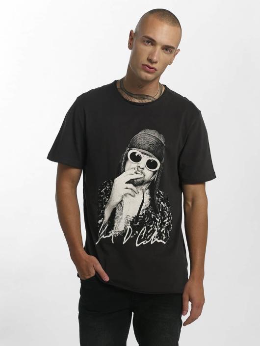 Amplified T-Shirt Kurt Cobain Photograph gris