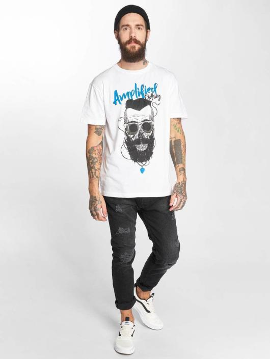 Amplified T-Shirty Bearded Skull bialy