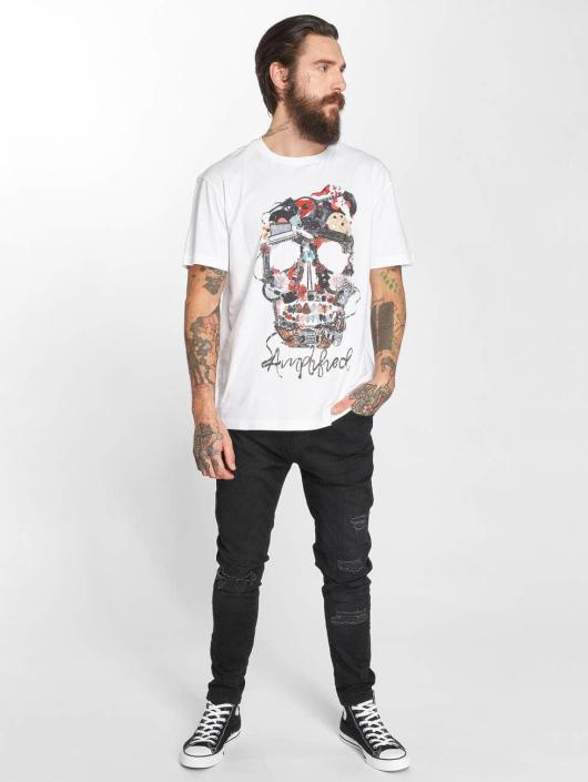 Amplified T-Shirty Plecktrum Skull bialy