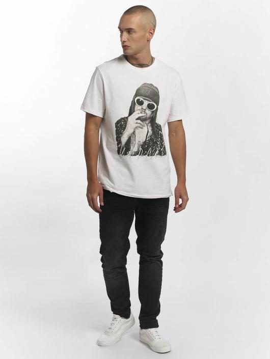 Amplified T-Shirty Kurt Cobain bialy