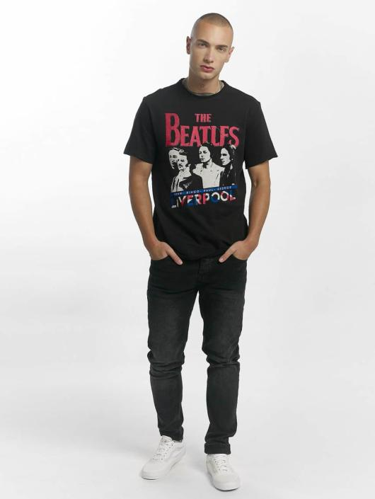 Amplified T-Shirty The Beatles Liverpool czarny