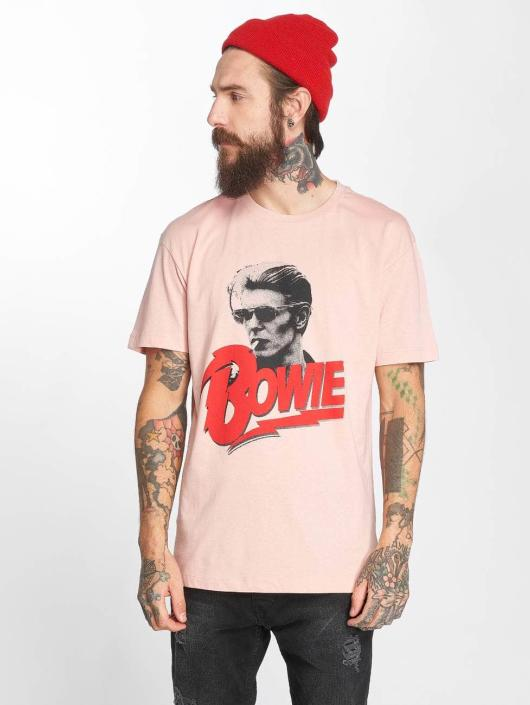 Amplified T-Shirty Bawid Bowie New Romantic Bowie rózowy